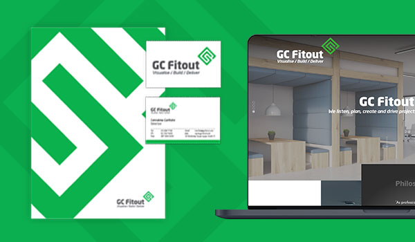 GC FItout stationery and website